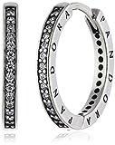 Pandora Damen-Creolen 925 Silber Zirkonia weiß - 290558CZ