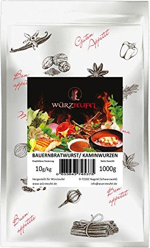 Pfefferbeißer, Kaminwurzen, Bauernbratwurst - Gewürz. Für rohgereifte Wurstsorten. Beutel: 1000g....