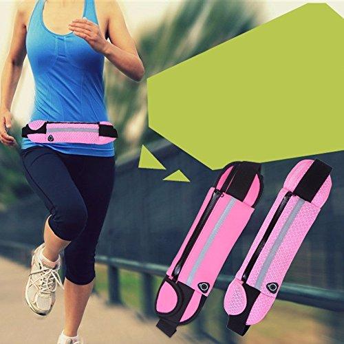 Outdoor - Tasche, Wasserdichte Tasche, Hüfte, Portemonnaie, Handy - Tasche Reisen wasserdicht - rose red