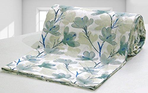 AURAVE Grey Flower Floral Pattern 1 Pc Cotton Duvet Cover/Quilt Cover/Blanket Cover...