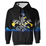 EYSKJ Sudadera con Capucha Alaska Flag Free Fleur De LYS Men's 3D Pullover Long Sleeve Hoodies Sweatshirt Tops