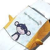 Parabrisas Cubierta De Nieve Y Fundas Espejo Utilizado Protege De Hielo, Nieve Viento Y Lluvia, Funda Plegable Parabrisa Delantero Universal En Todo Clima,Monkey