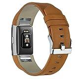 Correa de Reloj para Fitbit Charge 2 KZKR Pulseras de Reloj Correa de Reloj Marron Correa de Reloj de Cuero Moderno para Fitbit Charge 2 Marron B045-BROWN