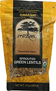 TruRoots Organic Sprouted Green Lentils -10 oz