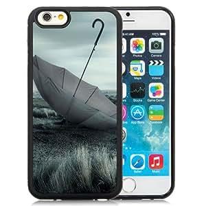 6 Phone cases, Umbrella, Grass, Nature, Overcast Black iPhone 6 4.7 inch TPU cell phone case