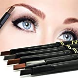 CGTMaxdona Retractable Durable makeup Durable makeup Long Lasting Eyebrow Pencil Eyebrow Liner Chalk Pen Pencil for Makeup (05# Dark Brown)