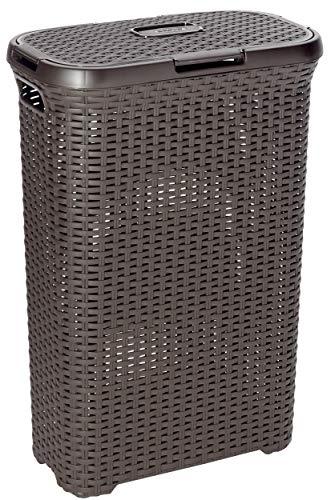 CURVER Style 60L Wäschebox, Plastik, dunkelbraun 44.8 x 34.1 x 61.5 cm