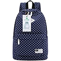S-Zone Canvas Polka Dot Backpack