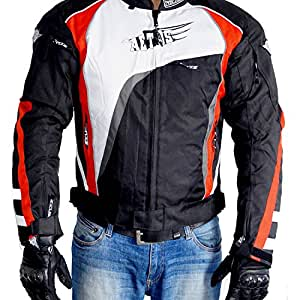 Zeus Aetos Sport Motorcycle Jacket (Black, X-Large)