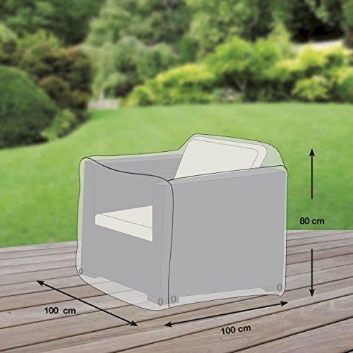 Loungesessel Abdeckung / Schutzhülle für Gartensessel - Premium (100 x 100 x 80 cm) wasserdichte...