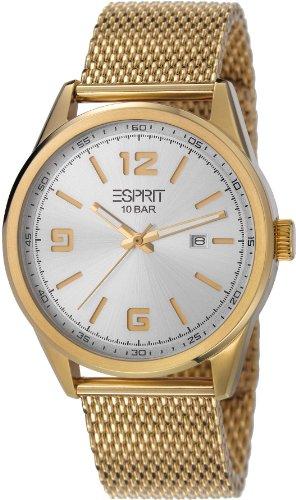 ESPRIT es106341005 - Reloj para mujeres, correa de acero inoxidable color dorado