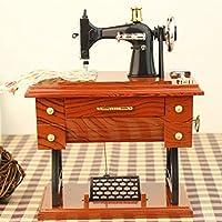 Kicode Mini Retro Máquina de Coser Pedal de la Vendimia Caja Musical Estilo de relojería Decoración