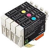 AmazonBasics Cartouche d'encre reconditionnée pour Epson Apple T1285 Multi-pack 4 couleurs