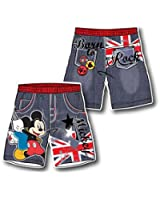 Disney Mickey Mouse Swim Shorts in Red or yellow, Size M (104 / 116, 128
