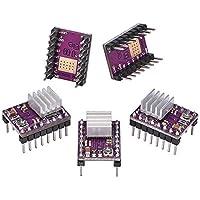 Electrely DRV8825 - Juego de 5 piezas de motor paso a paso (4 capas, placa PCB con disipador de calor para impresora 3D, reprap RP A4988)