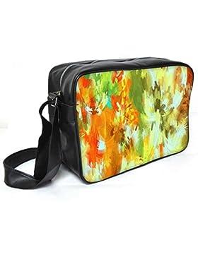 Snoogg Abstrakt Paint Leder Unisex Messenger Bag für College Schule täglichen Gebrauch Tasche Material PU