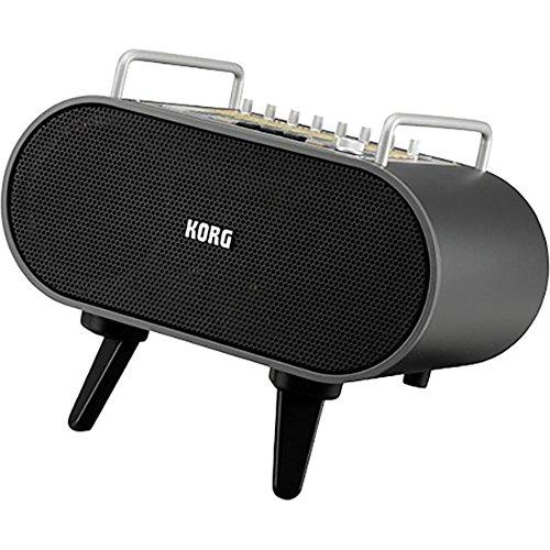 Korg Stageman 80Stereo Portable Speaker 80W Black-Portable Speakers (80W, 4Ohm, Wired, 6.3mm/XLR, Stereo Portable Speaker, Black) (Portable Speaker Guitar)