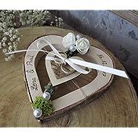 matrimonio anello cuore per fedi nuziali con nome