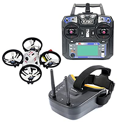 Qwinout LDARC ET100 Brushless Quadcopter with FS-i6 Transmitter and Monitor RTF Set