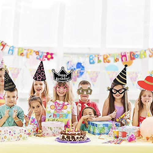 PushingBest Foto Requisiten, Photo Booth Geburtstag, 45 Stück Fotobox Requisiten Geburtstag für Baby Boy, Baby Girl, Cowboys, Hochzeit, Mr & Mrs und Weihnachten