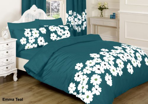 emma bettdecke ||jaaz Textile|| Emma Blaugrün doppelt Bedruckte Bettwäsche Bettbezug-Set (Bettbezug + 2Kissenbezügen)