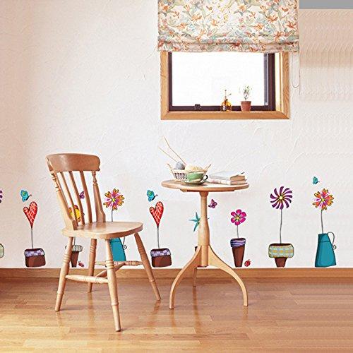 Unbekannt Coco Blumen-Schmetterlings-Aufkleber-Abziehbild-Fenster-Glas-Wand-Dekor