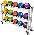 Pro Medizinball Ablage / Rack rollbar in Studio-Qualität - Ablage für max. 15 bis 20 Medizinbälle (Modell abhängig) BCA-129