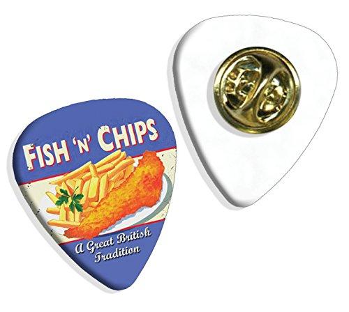 fish-chips-brittish-tradition-martin-wiscombe-gitarre-plektrum-pick-abzeichen-badge-vintage-retro