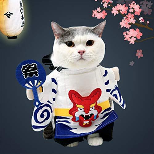 HNYJRYBH Hochwertige lustige Haustier Kleidung, Hund Katze Kleidung Anzug Yin Yang Division Dress Up Party Kleidung Katzen und Hunde sowie Hut Kleidung