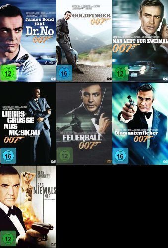 James Bond 007 SEAN CONNERY komplette Edition 7 DVD Collection (James Bond Videos)