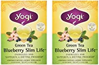 Yogi Herbal Tea Green Slim Life Blueberry -- 16 Tea Bags Each / Pack of 2