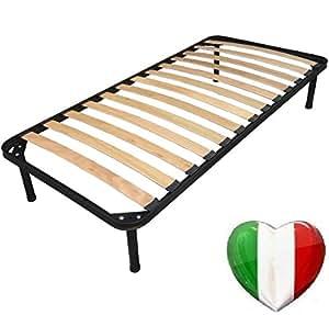 orthop discher lattenrost f r einzelbett 80 x 190 cm mit f en k che haushalt. Black Bedroom Furniture Sets. Home Design Ideas