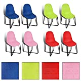 2/4/6/8x Esszimmerstuhl Küchenstuhl Esszimmerstühle Stühle Stuhl Stuhlgruppe Set (6, Rosa)