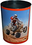 Läufer 26659 Papierkorb für Kinderzimmer Motiv Quad, 13 Liter Mülleimer oder Sammelbox, toll für Jungen, schön für Mädchen