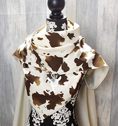 Dreieckstuch, XL Halstuch, Karabiner, Animal Print