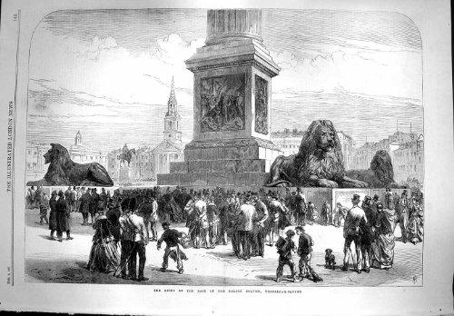 1867 Lions Base London, Trafalgar Square Nelson-Säule