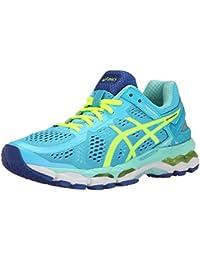 Zapatillas de running para mujer Gel Kayano 22, azul hielo / amarillo / azul intermitente, 5 M US