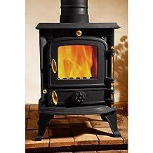 Life Time Warranty 5.5KW Efficiency 81% Cast Iron Burning Stove Log Multifuel Wood Coal