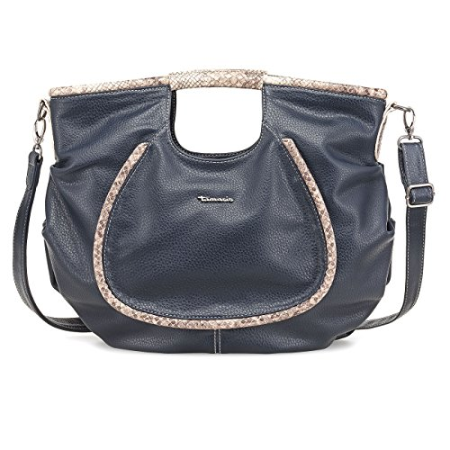 TAMARIS ALEX Handtasche, Shopper, Reptil-Applikationen, 3 Farben: schwarz, khaki oder navy blau Navy Blau