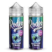 Twin Pack - 2 x 100ml Blackcurrant & Menthol E Liquid 70/30 Vape Juice E-Liquid Juice Vape Liquid 0mg Flavoured eJuice Liquid No Nicotine 120ml Bottle 200ml (Rodeo E Liquid) 6