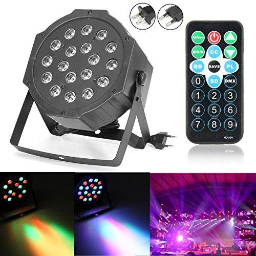 DADEQISH 18W RGB LED Bühnenlicht DMX Par KANN DJ Disco Uplighter Strobe-Beleuchtung Innenlicht (Color : US Plug)