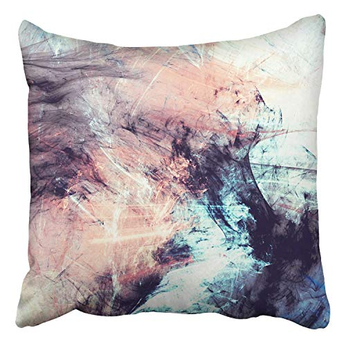 RAINNY Throw Pillow Covers Abstract Color Dynamic Lighting Effect Futuristic Bright Painting Decor Pillowcases Polyester Square Hidden Zipper Home Cushion Decorative Pillowcase 16x16 inch - Square Bath Lighting
