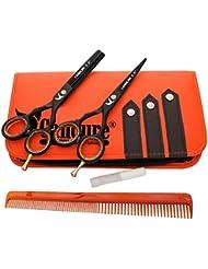 """Ciseaux de coiffure Barber Salon de coupe de cheveu Noir Vis éclaircie. 5.5"""""""