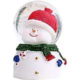 Zoomarlous Bola de cristal de Navidad, bola de nieve para fotografía de Pascua, decoración de escritorio de Papá Noel, muñeco
