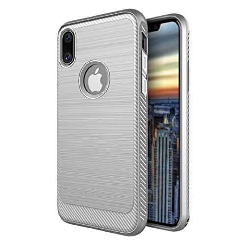 iPhone8 7 Plus Soft Armor Case, Awesome Carbon Fiber Bumper Frame Luxury Soft Thin Cover, WEIFA Cool Ultralight Slim Anti-Scratch Phone Protection Case For iPhone 8 7Plus Black !Gray