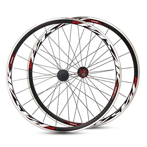 Plat Firm PASAK 700C Ultraleicht Rennrad Vorne Hinten Laufradsatz Aluminium Felge C/V Bremse -