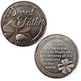 Lucky Coin Sentimental Good Luck Coins Engraved Message Keepsake Gift Set Charm (Dearest Father)