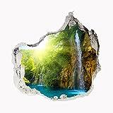 Wandbild Sticker 3D civil Life Foto Tapete Wandtattoo ca. 125x100 cm #1509 (Glow Waterfall)