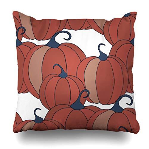 Alricc Holiday Bild geröstete Türkei Hühnchen Teller flach Worte Happy Thanksgiving Day Dekokissen Kissenbezug für Schlafzimmer Sofa Wohnzimmer 45,7 x 45,7 cm 20X20 Color 2