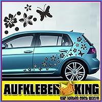 """Stickers Hibiscus """"Fiori e farfalle Set 30 pezzi"""" adesivo NB-0169-30-IT nero"""